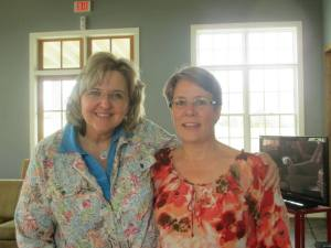 Lisa Smartt, author and speaker, pictured here with Camille Kendall